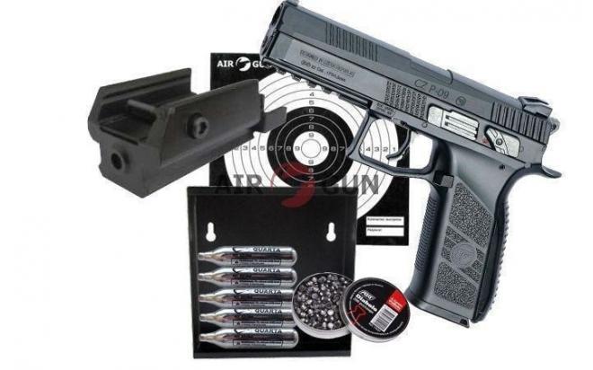 Подарочный набор ASG CZ P-09 Duty пулевой, blowback 4,5 мм
