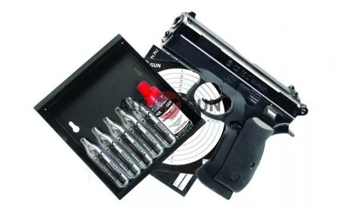 Подарочный набор ASG CZ 75 D Compact пластик 4,5 мм
