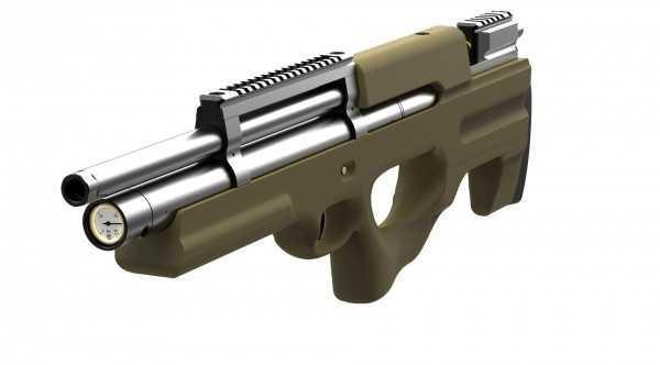 Пневматическая винтовка Ataman M2R Булл-пап 4,5 мм (Зелёный)(магазин в комплекте)