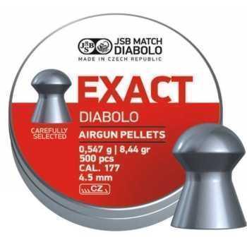 Пули пневматические EXACT Diabolo 4,5 мм 0,547 грамма (500 шт.) headsize 4,50 мм