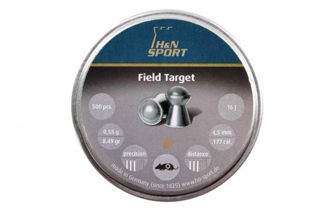 Пули пневматические H&N Field Target 4,5 мм 0,55 грамма (500 шт.) гладк.