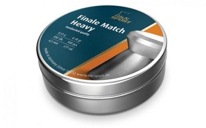 Пули пневматические H&N Finale Match Heavy для винт. гладк. 4,49 мм (500 шт.)