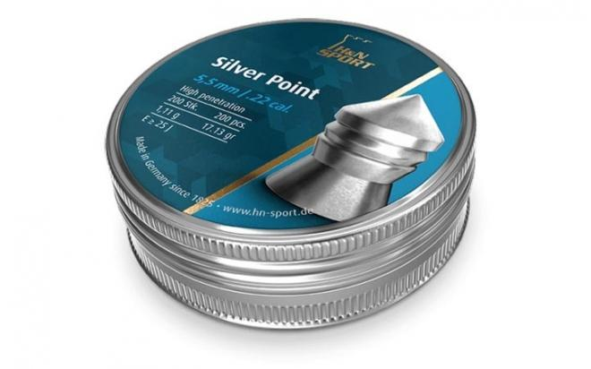 Пули пневматические H&N Silver Point 5,5 мм 1,11 грамм (200 шт.)