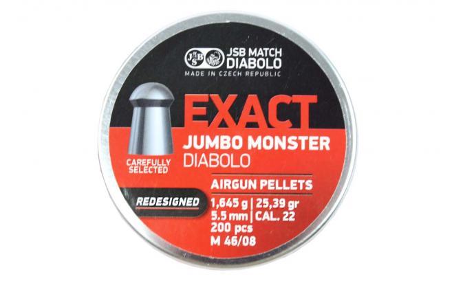 Пули пневматические JSB Exact Jumbo Monster (redesigned) 5,52 мм 1,645 грамма (200 шт.)
