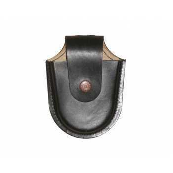 Чехол под наручники БРС (кожа, черный)