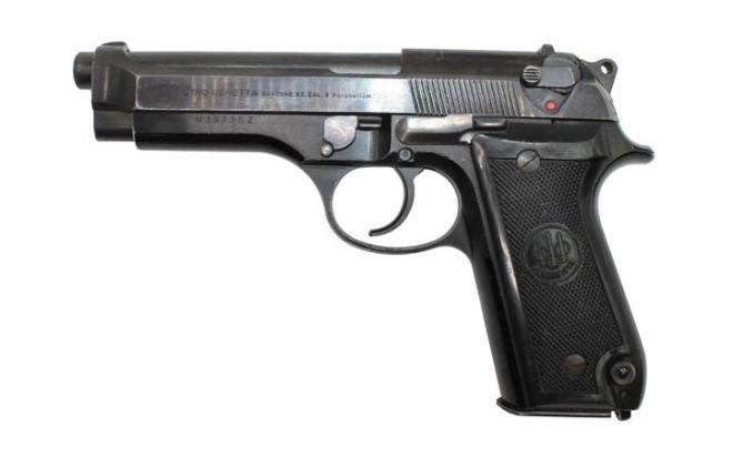 Оружие списанное охолощенное пистолет  Beretta 92S-O кал. 9x19