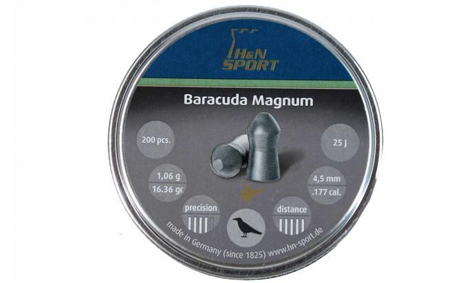Пули пневматические H&N Baracuda Magnum 4,5 мм 1,06 грамма (200 шт.)