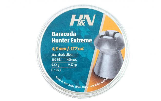 Пули пневматические H&N Baracuda Hunter Extreme 4,5 мм 0,62 грамма (400 шт.)