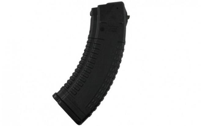 Магазин Pufgun ВПО-136/АК/АКМ/Сайга (30 патронов, зуб металлический, полимер, черный, 189 гр)