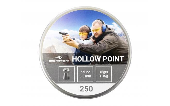 Пневматические пули Borner Hollow Point 5,5 мм 1,15 грамма (250 штук)
