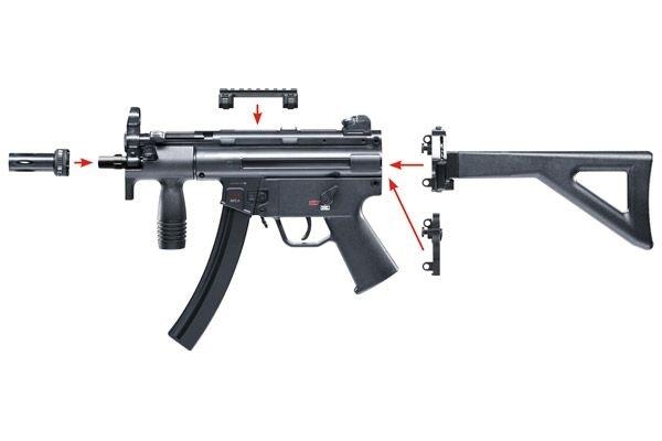 1)Пневматический пистолет-пулемет Heckler & Koch MP5 K-PDW