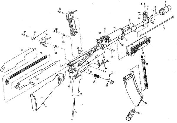 5)Обзор пневматического автомата Юнкер 4 длинный (АК - 103)