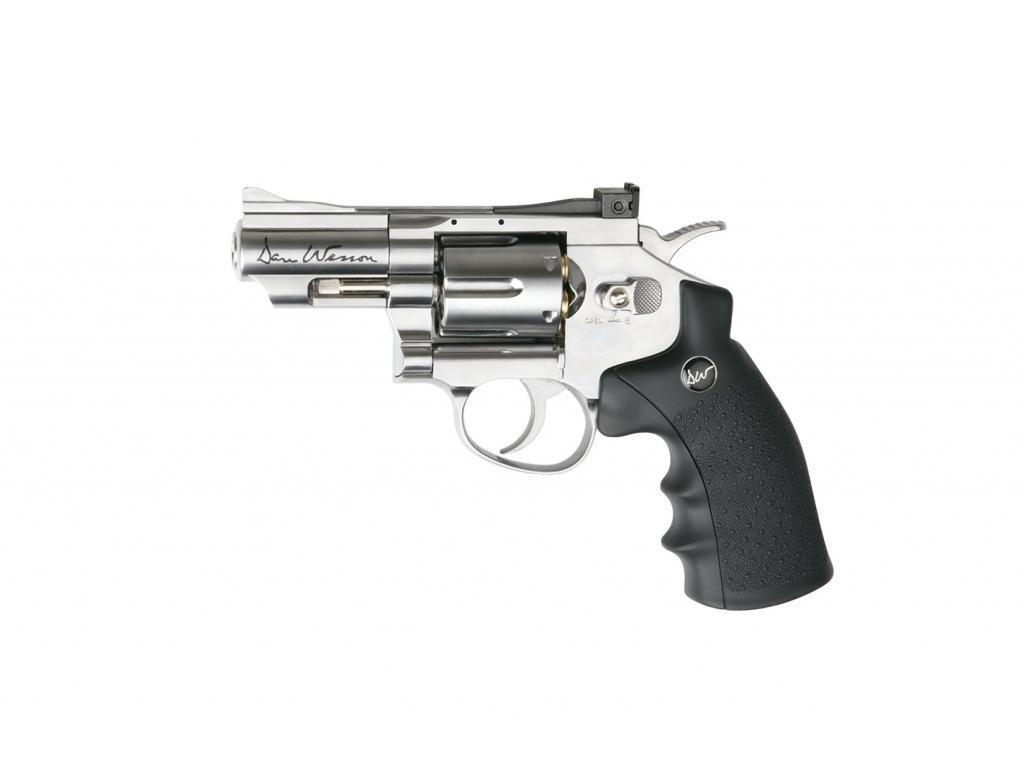 Пневматический револьвер ASG Dan Wesson 2.5 серебристый Silver 4,5 мм