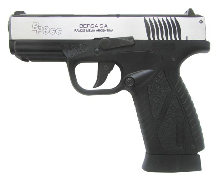Пневматический пистолет ASG Bersa BP9CC blowback металл/серебро 4,5 мм