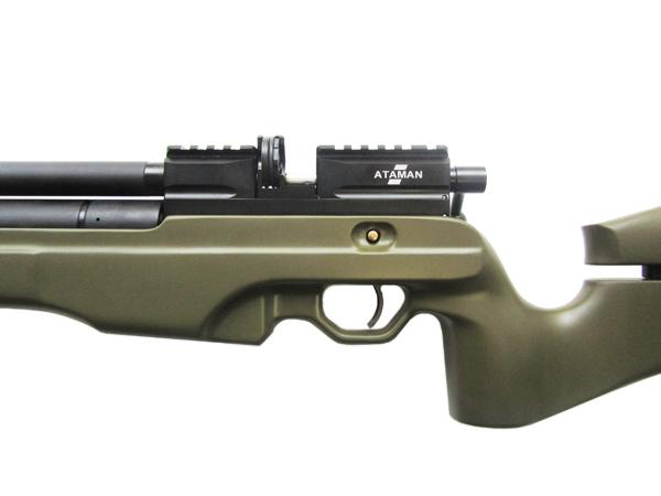 3)Пневматическая винтовка Тактик Ataman M2R Тип I (зелёный) 5.5мм (магазин в комплекте) (235/RB)