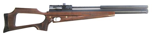 1)Пневматическая винтовка Horhe-Jager SP NEW (короткая) с интегрированным модератором, орех