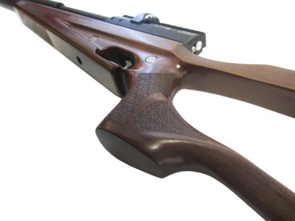5)Пневматическая винтовка Horhe-Jager SP NEW (короткая) с интегрированным модератором, орех