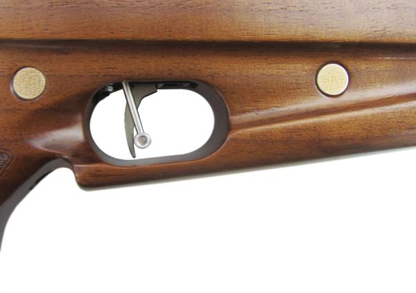 4)Пневматическая винтовка Horhe-Jager SP NEW (короткая) с интегрированным модератором, орех