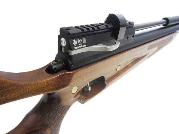 3)Пневматическая винтовка Horhe-Jager SP NEW (короткая) с интегрированным модератором, орех