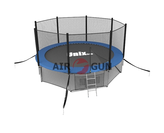 Батут Unix 12 ft с внешней защитной сеткой и лестницей Blue 20151211
