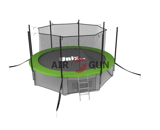Батут Unix 12 ft intside с внутренней защитной сеткой Green 20161222
