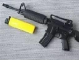 Масштабная металлическая модель винтовки M4A1
