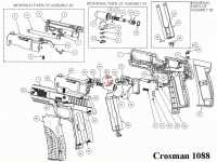 Пневматический пистолет Crosman 1088 BG 4,5 мм