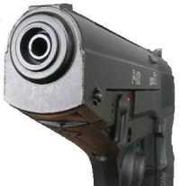 дуло пневматического пистолета Gamo P-23