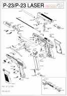 взрыв схема к пневматическому пистолету Gamo P-23