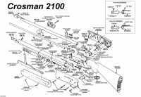 взрыв схема к пневматической винтовке Crosman 2100 B 4,5 мм