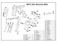 взрыв схема к пневматическому пистолету Borner M84