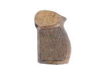Рукоятка деревянная орех к МР 654 вид слева