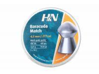 Пули пневматические H&N Baracuda Match 4,5 мм 0,69 грамма (400 шт.) headsize 4,50 мм