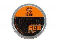 Пули пневматические RWS Club 4,5 мм 0,45 грамм (500 шт.)