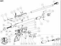 взрыв схема к пневматическому пистолету Crosman 2300T