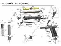 взрыв схема к пневматическому пистолету Атаман-М1 №1