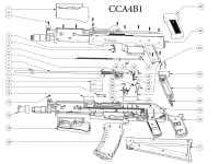 взрыв схема к пневматической винтовке Crosman CCA4B1