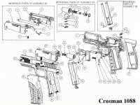 Пневматический пистолет Crosman 1088 BG Kit (пули+очки) 4,5 мм
