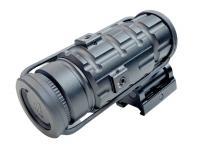 Увеличитель для коллиматора UTG 3X с быстросъемным-откидным кронштейном на Picatinny