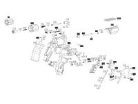 взрыв-схема пневматического револьвера ASG Dan Wesson 715-4 silver пулевой
