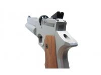Пневматический пистолет Ataman АР16 компакт металл Silver 4,5 мм целик