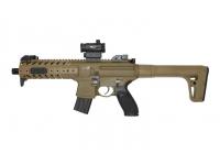 Пневматическая винтовка Sig Sauer MPX FDE-R 4,5 мм вид слева