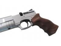 Пневматический пистолет Ataman АР16 Silver стандарт дерево 4,5 мм рукоять