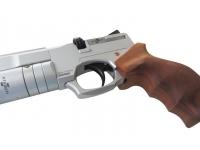 Пневматический пистолет Ataman АР16 Silver компакт дерево 4,5 мм спусковой крючок