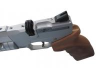 Пневматический пистолет Ataman АР16 Silver компакт дерево 4,5 мм магазин