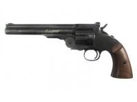 пневматический револьвер ASG Schofield-6 aging black вид слева