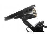 барабан пневматического револьвера ASG Schofield-6 aging black вид слева