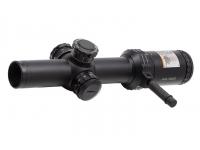 Оптический прицел Bushnell AR OPTICS 1-4х24, 30 мм., сетка BTR, с подсв. 11 уровней, красн., FFP, рычаг PCL, клик=0,1MIL, черн.