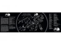 Коврик ShotTime для чистки оружия АК-47 90х30 см (черн/белый)