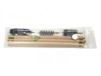 Набор для чистки гладкоствольного оружия 20 кал. (шомпол деревянный, полиэт.пакет)